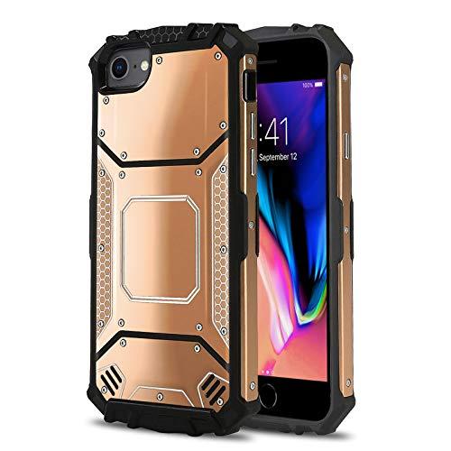Phone Case for [Apple iPhone 6/6s Plus, 7/7s Plus, 8 Plus (5.5 inch)], [Alloy Series][Rose Gold] Aluminium [Metal Plate] Military Grade Cover for iPhone 6/6s Plus, 7/7s Plus, 8 Plus (5.5 inch)
