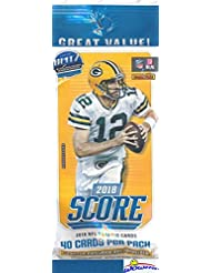 2018 Score NFL Football AWESOME Factory Sealed JUMBO FAT PACK with 40 Cards Including (6) ROOKIES, (3) PARALLELS & (4) INSERTS! Look for RC's & Autographs of Mayfield, Barkley, Darnold & More! WOWZZER