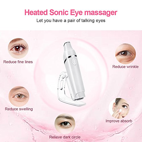 Eye Massager with Heat, MYSWEETY 42℃ Heated Anions Import Sonic Vibration Facial Massager Relieves Fine Lines, Puffiness and Dark Circle, USB Rechargeable by MYSWEETY (Image #4)