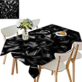 UHOO2018 Fitted Polyester Tablecloth   backgroun Cloth or liqui Wave or Wavy f Grunge Silk Texture Square/Rectangle Washable for Tablecloth,52 x 184inch