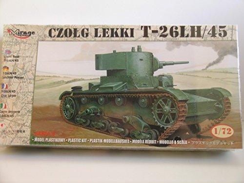 - Mirage Models----1/72 Scale Russian T-26LH/45 Tank----Plastic Model Kit