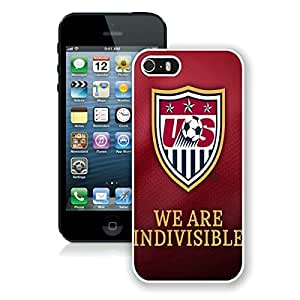 5 Phone case,USA Soccer 12 White iPhone 5 cell phone case