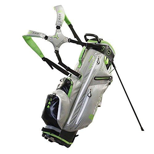 Big Max Golf Dri LiteG Golf Stand Bag, Silver Black Lime