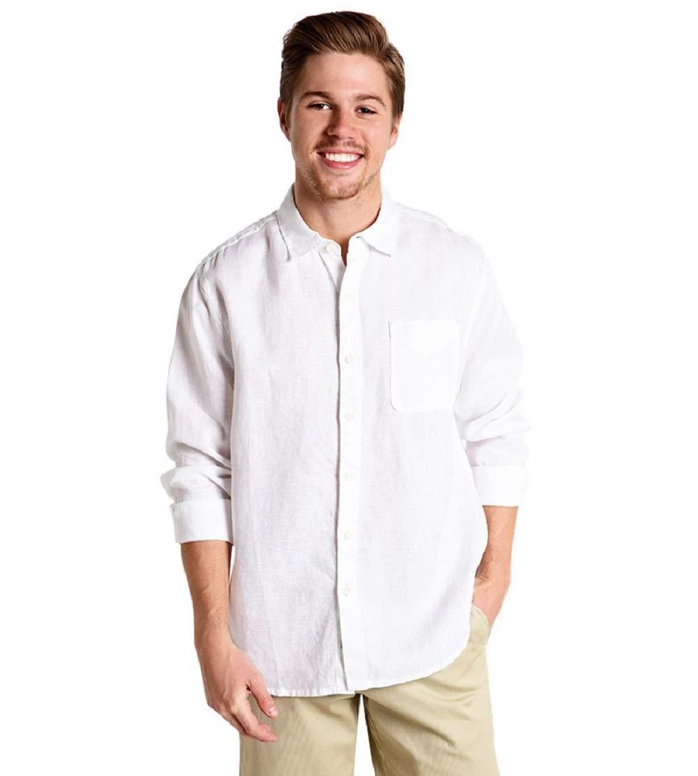 Tommy Bahama Men's Sea Glass Breezer Long Sleeve Shirt White Large