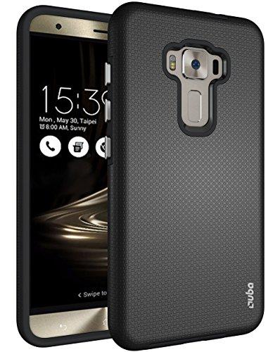 ZenFone 3 Case, OUBA [Dual Layer] Shock Absorption Impact Resistant Armor Rugged Defender Protective Case for Asus Zenfone 3 ZE552KL 5.5 - Black