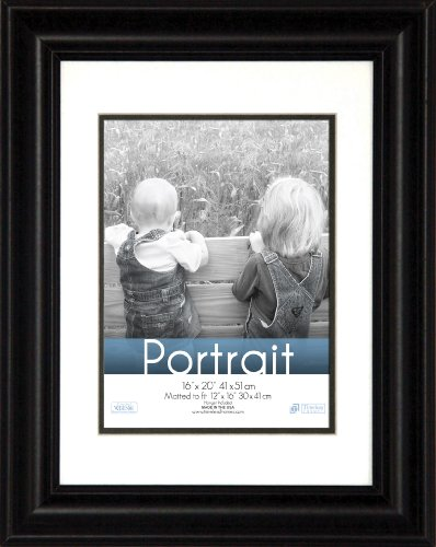 Timeless Frames 16x20 Inch Fits 12x16 Inch Photo Lauren Portrait Wall Frame, Black