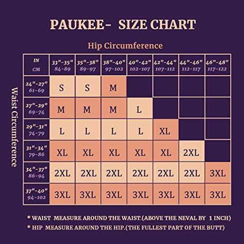 PAUKEE Women High Waist Tummy Control Shapewear Shorts Butt Lifter Thigh Slimmer Body Shaper