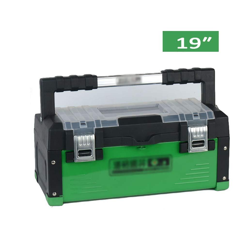 ツールボックスedelstahl kunststoff eisen haushaltハードウェアmultifunktions manuelle reparatur werkzeugkasten auto自動aufbewahrungsbox (サイズ さいず : 45cm*22.5cm*20.5cm) B07Q7W8XLQ  45cm*22.5cm*20.5cm