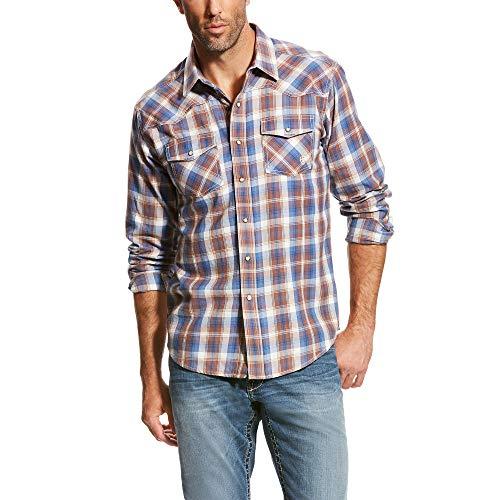 (ARIAT Men's Retro Fit Long Sleeve Snap Shirt, Robley Velvet Chocolate, MED)