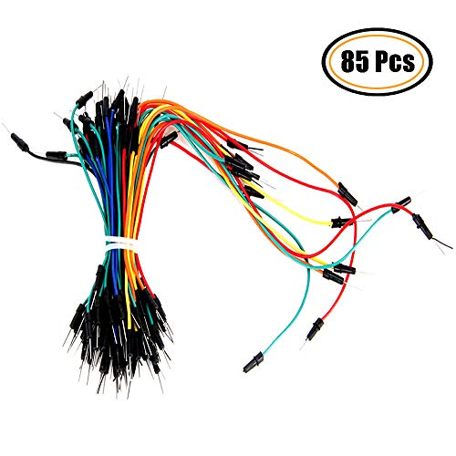 Oak-Pine 65Pcs Flexible Breadboard Jumper Wires - 4 Lengths Multicolored Male to Male Solderless Ribbon Cables Kit for Arduino, Prototyping, DIY (Include 4inch 6inch 8inch - Oak Breadboard