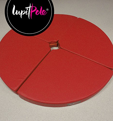 LUPIT MAT ''STANDARD'' RED 8cm (3.14in) FOR POLE DANCING POLE by LUPIT POLE
