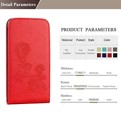 GHC Cases & Covers, Für iPhone 6 & 6s Roses Pressed Blumen Pattern Vertical Flip Leder Tasche mit Card Slot & Lanyard ( Size : Ip6g6010p )