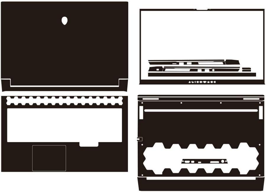 "Special Laptop Black Carbon fiber Vinyl Skin Stickers Cover for 2020 release Alienware M17 R3 3rd Gen 17.3"""