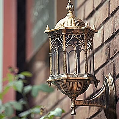 Outdoor Exterior Lantern Wall Post Lighting Sconce Hanging Fixture Light Lamp