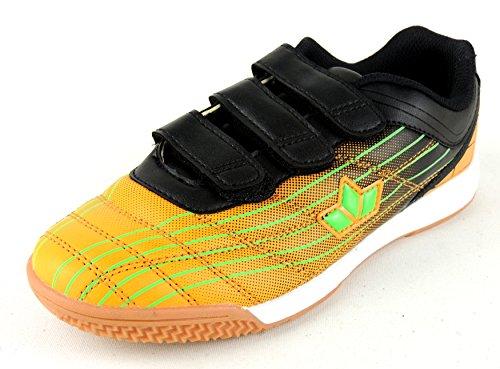 Lico - Zapatillas de Material Sintético para niña Negro negro Naranja - Orange/Lemon