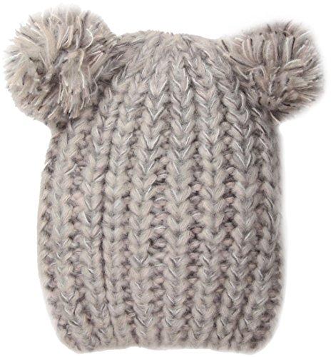 Genie by Eugenia Kim Women's Tasha Knit Beanie, Light Gray/Blush, One Size (Tasha Hat)