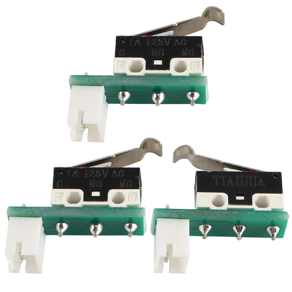 3Pcs Malyan M200 Limit Switch Endstop Set X Y Z Axis with Screws Nut for Monoprice MP Select Mini V1// V2 FYSETC 3D Printer MP Select Mini V2 Parts