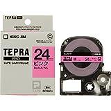 キングジム テープカートリッジ テプラPRO SC24P 24mm ピンク