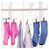 GOOTRADES Laundry Hooks Clothespins Hanging Clips Plastic Hanger Home Travel (pack of 15)