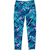 New Balance Big Girls' Print Performance Tight, Gradient Plaid, 14