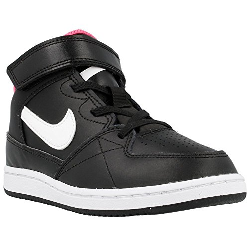Nike - Priority Mid PS - Color: Blanco-Negro-Rosa - Size: 27.5