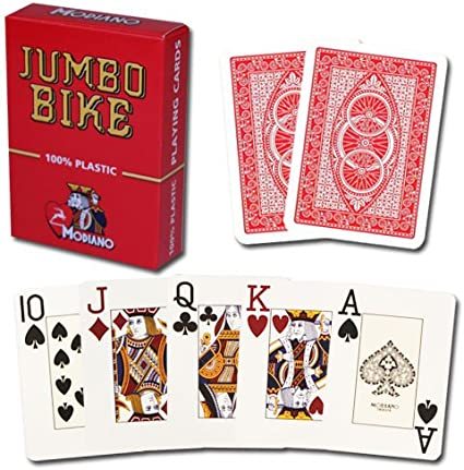 New Modiano Plastic Playing Card Deck POKER INDEX RED 12 PACK Made in Italy