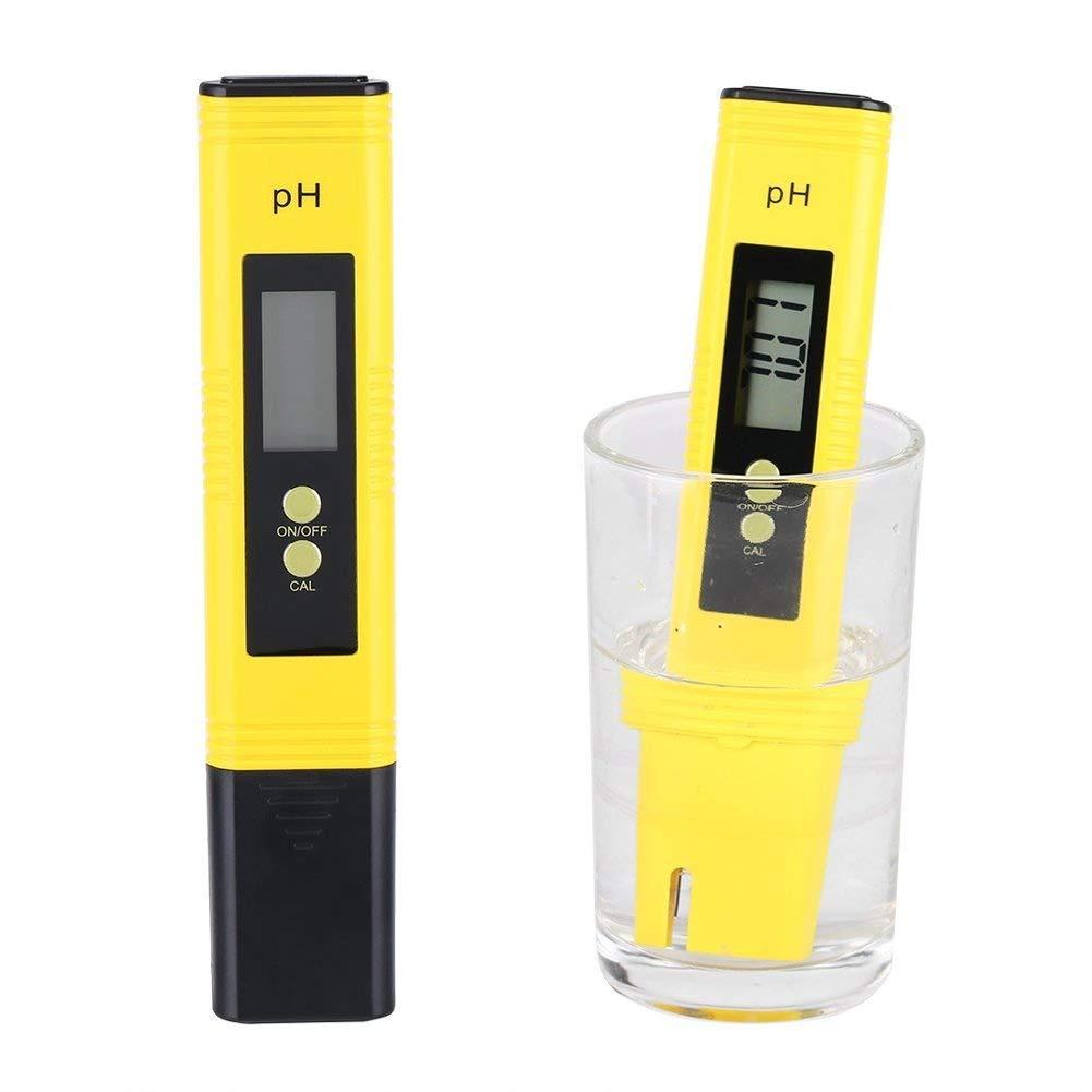 Medidor de pH de tamañ o de bolsillo para agua, probador de pH digital para probador de PH de agua potable, acuario y piscina, 0-14 rango de medició n de pH, alta precisió n de 0.01 PH 0-14 rango de medición de pH Zerodis
