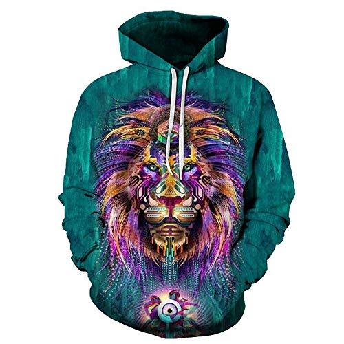 YUVUMVS Brand Hoodies Lion 3D Sudaderas Hombres Chándales ...