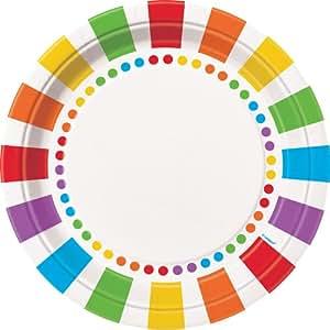Rainbow Dinner Plates, 8ct