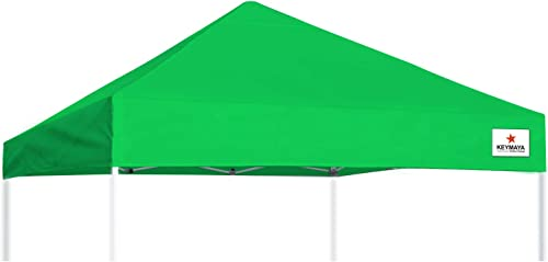 Keymaya 10×10 Replacement Canopy Top Instant Canopy Cover Pop Up Canopy Without Frame Kelly Green