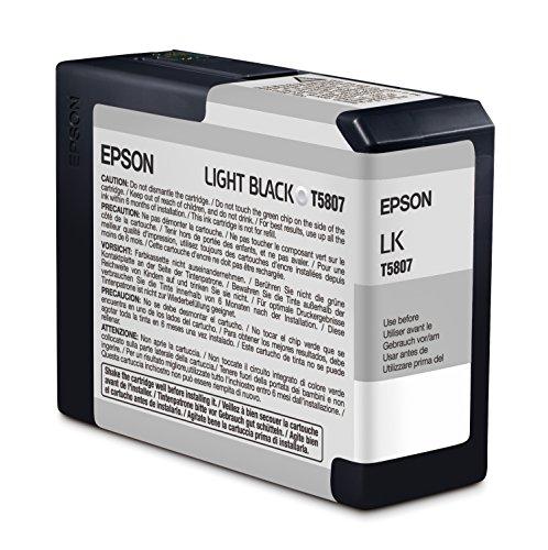 Epson T5807 UltraChrome K3 Light Black Cartridge Ink
