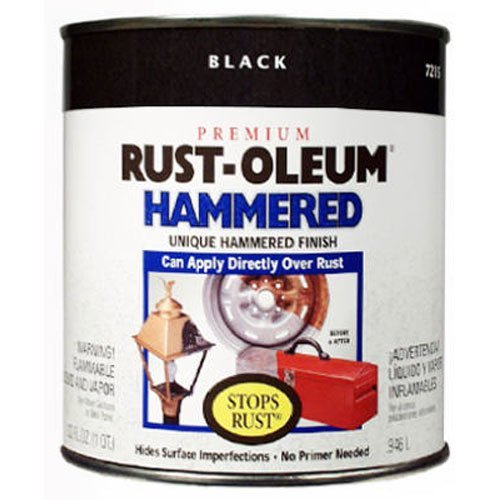 Rust-Oleum 7215502 Hammered Metal Finish, Black, 1-Quart