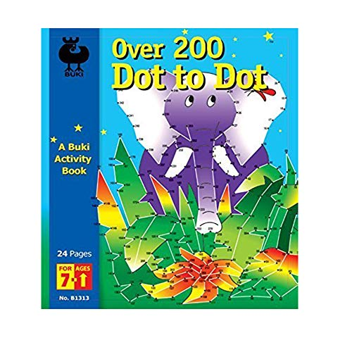 - Buki Over 200 Dot to Dot Activity Book, One Color