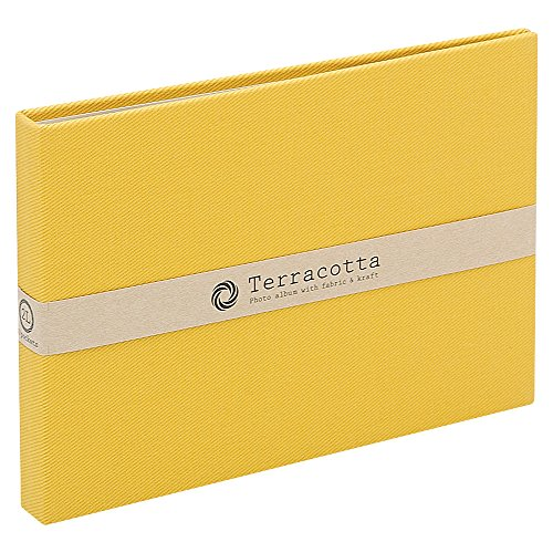 Terracotta 40 pocket Fabric Frame photo album TER-2LP Yellow