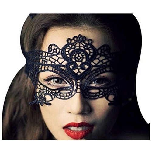 Homemade Scary Clown Costumes (Rbenxia Sexy Lace Mask Halloween Masquerade Party Costume Cat Mask for Women Girl)