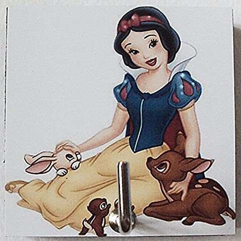 Agility Bathroom Wall Hanger Hat Bag Key Adhesive Wood Hook Vintage Disney Snow White & Friend's - Snow White Pictures