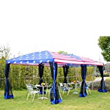 10x20ft Pop-Up Tent Party Wedding Canopy Gazebo Patio Outdoor USA Flag