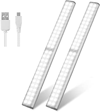 Led Closet Light Usb Rechargeable 52 Led Under Cabinet Lighting Wireless Motion Sensor Activated Night Light With Magnetic Strip For Closet Cabinet Wardrobe 2 Pack Under Cabinet Lights Amazon Canada