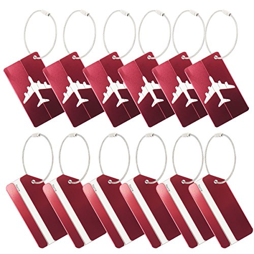 Onway Metal Travel Luggage Tags Suitcase Bag Labels Airline Plane Travel Baggage...