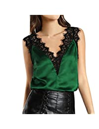 2018 Women Lace Vest Tops Sleeveless Casual Tank Blouse Summer T-Shirt by TOPUNDER