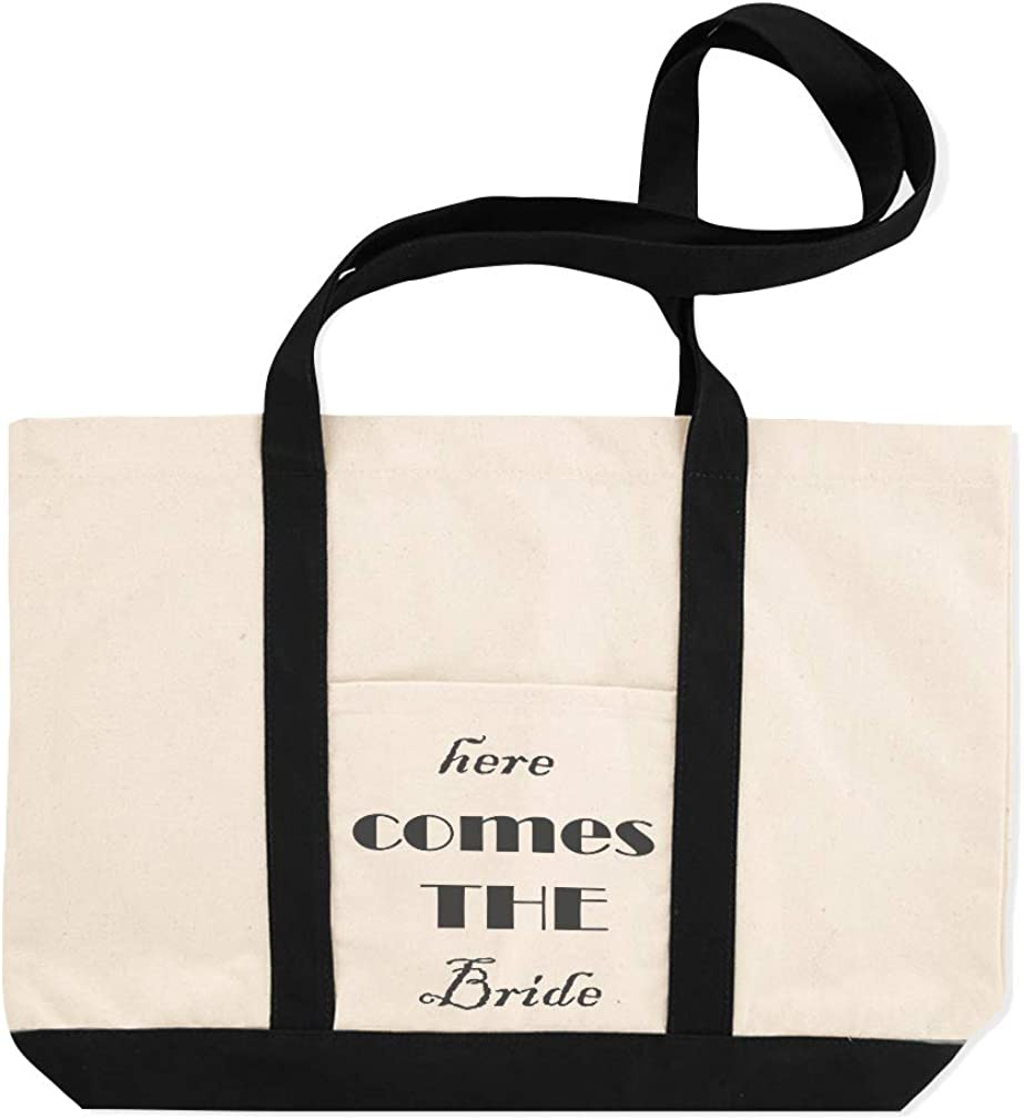 Canvas Shopping Tote Bag Here Comes The Bride Holidays and Occasions Wedding Beach for Women Gifts