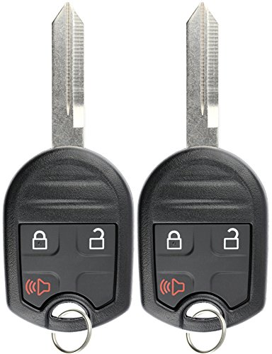 KeylessOption Keyless Entry Remote Control Uncut Blank Car Ignition Key Fob Replacement for CWTWB1U793 (Pack of ()