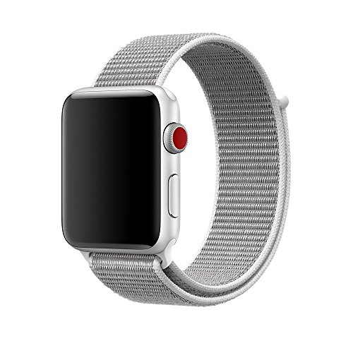 Price comparison product image Smart Watch Band Seashell Sport Loop, Uitee Newest Woven Nylon Band for Apple Watch Series 42mm 3/2/1 , Comfortably Light With Fabric-Like Feel Wrist Strap Replacement with Classic Buckle