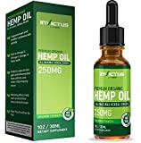 Premium Organic Hemp Oil - 250mg of Hemp Extract per bottle Helps Relieve Chronic Pain, Improves Sleep, Mood, Brain Function, Skin and Hair - Utilizing liquid hemp with better overall Absorption