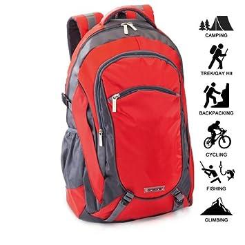 Mochila ORIZONS® Montaña Senderismo Trekking Camping Viaje Barata 50 L - Impermeable, Hombres y Mujeres (ROJO): Amazon.es: Deportes y aire libre