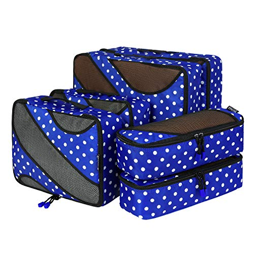 6 Set Packing Cubes,3 Various Sizes Travel Luggage