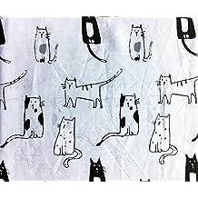 Cynthia Rowley CATS DRAWINGS Sheet Set - FULL SIZE (microfiber)