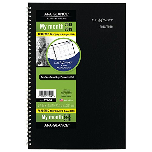 Brands Acco Planner (at-A-Glance 2018-2019 Academic Year Monthly Planner, Medium, 7-7/8 x 11-7/8, DayMinder, Black (AY200))