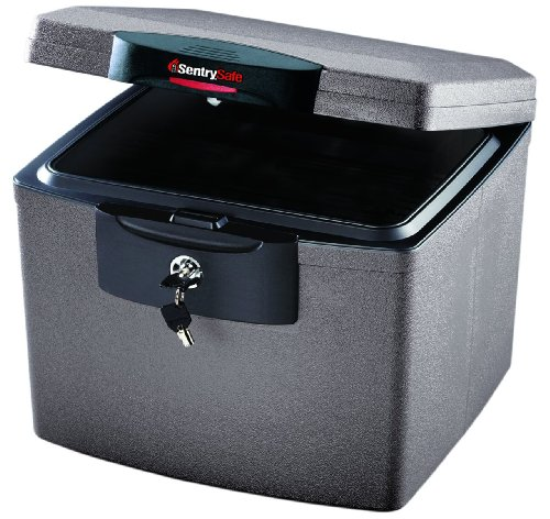 amazoncom sentrysafe h4300 firesafe waterproof file 068 cubic feet silver gray home improvement - Fire Proof Safe