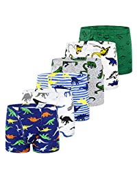 Kids Boxer Panties, Organic Cotton Boys Underpant for 2-10Years 6 Pack,03,8T